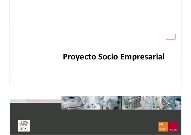 Proyecto Socio Empresarial
