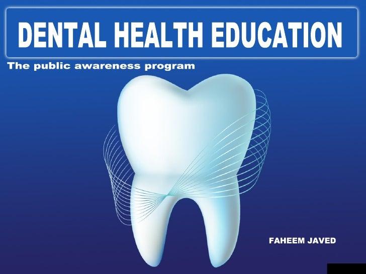 Dental Health Education Slide 2