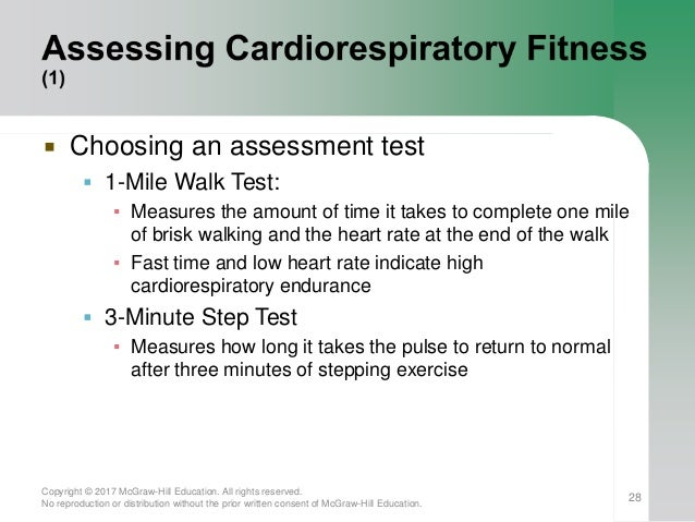 27; 28.  Choosing an assessment test  1-Mile Walk ...