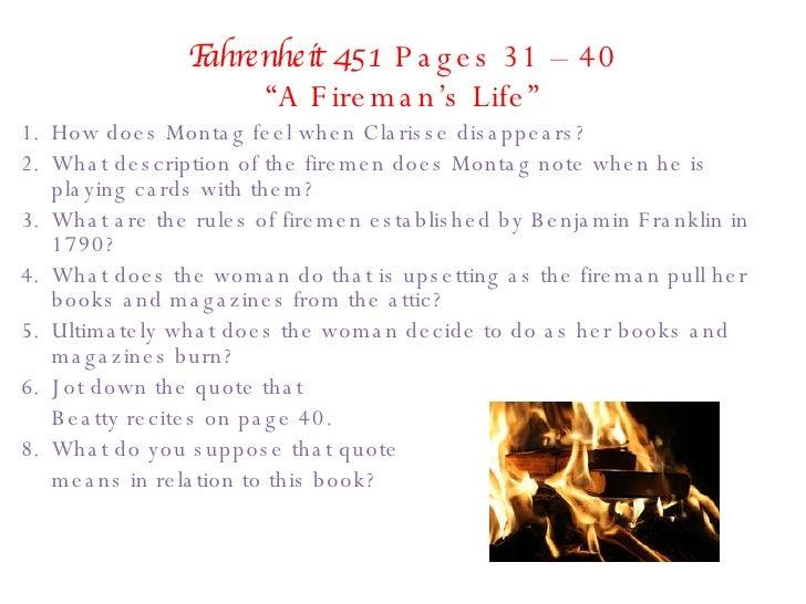 Fahrenheit 451 Part 1 Questions 97 03