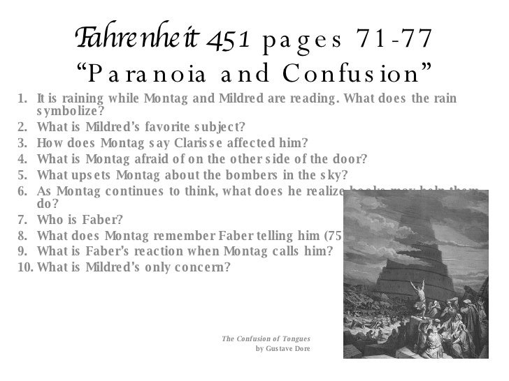 fahrenheit 451 part 1 responses 11 interesting quotes from fahrenheit 451 1 quote: white blurs are  to do your  own analysis (disregard that last part if, in fact, you read the.