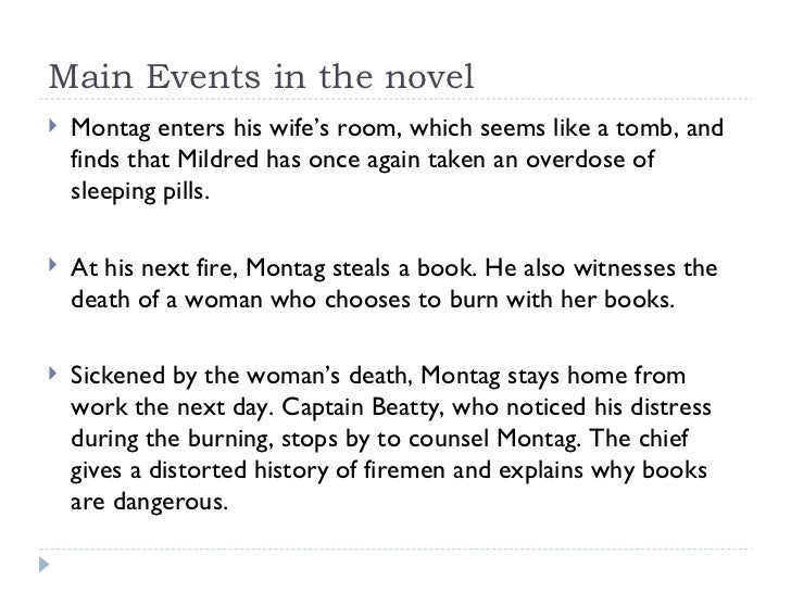 mildreds and montags room Mildred disappears into the bedroom montag discovers that she has been  burning the books one by one, and he rehides them in the backyard montag  feels.