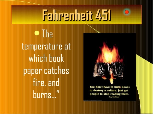 "fahrenheit 451 government paper Home » essay topics and quotations » fahrenheit 451 important quotes with  page  ""any man's insane who thinks he can fool the government and us"" (33."