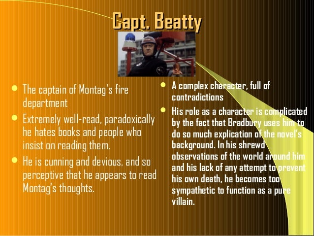 quotes by captain beatty Fahrenheit 451 unit packet book quotes pg 26 notes pg 27 3 student contract student statement why did captain beatty believe books should be destroyed.