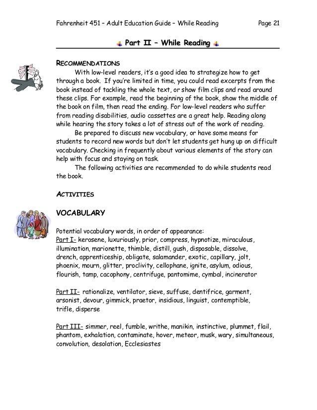 Fahrenheit 451 Adult Education Guide 2003