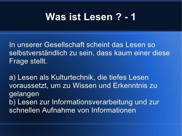 """Gabriele Fahrenkrog:  """"Lesen"""" im 21. Jahrhundert Slide 2"""