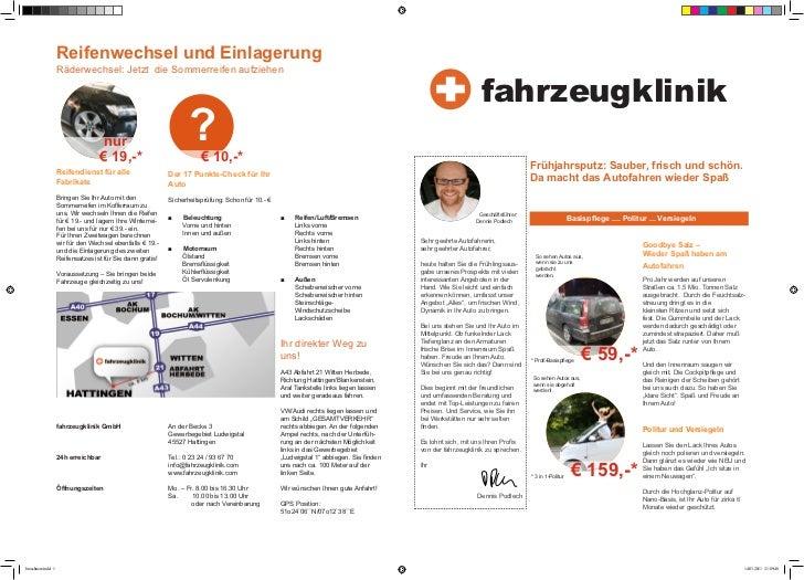 Reifenwechsel und Einlagerung                    Räderwechsel: Jetzt die Sommerreifen aufziehen                           ...