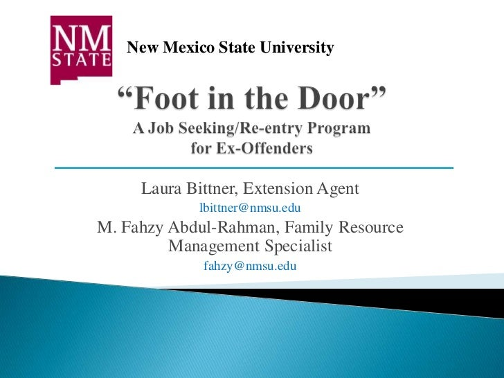 New Mexico State University     Laura Bittner, Extension Agent             lbittner@nmsu.eduM. Fahzy Abdul-Rahman, Family ...