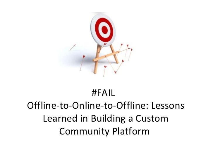 #FAIL  Offline-to-Online-to-Offline: Lessons Learned in Building a Custom Community Platform