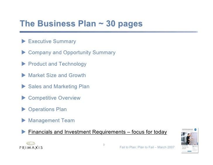 Fail to Plan: Plan to Fail Slide 3