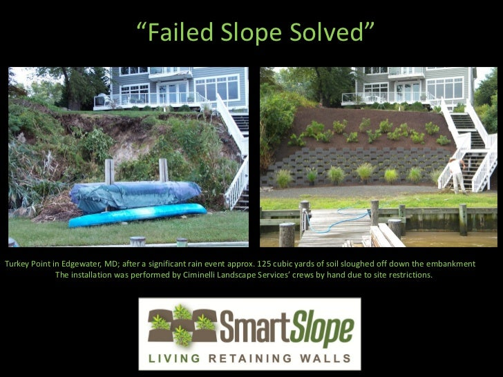"""""""Failed Slope Solved""""Turkey Point in Edgewater, MD; after a significant rain event approx. 125 cubic yards of soil sloughe..."""