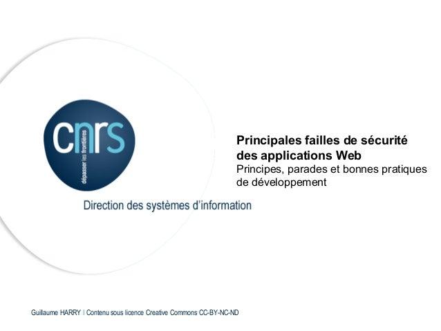 Principales failles de sécurité                                                                  des applications Web     ...