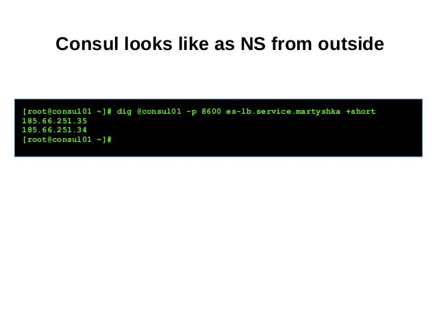 How we cooked elasticsearch consul haproxy and dns recursor for Consul http health check