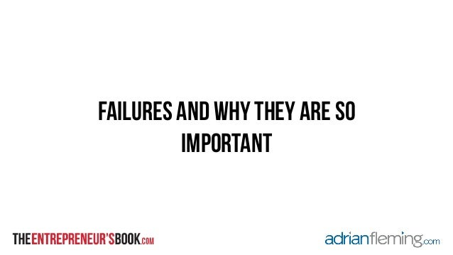 failures and why they are so  important