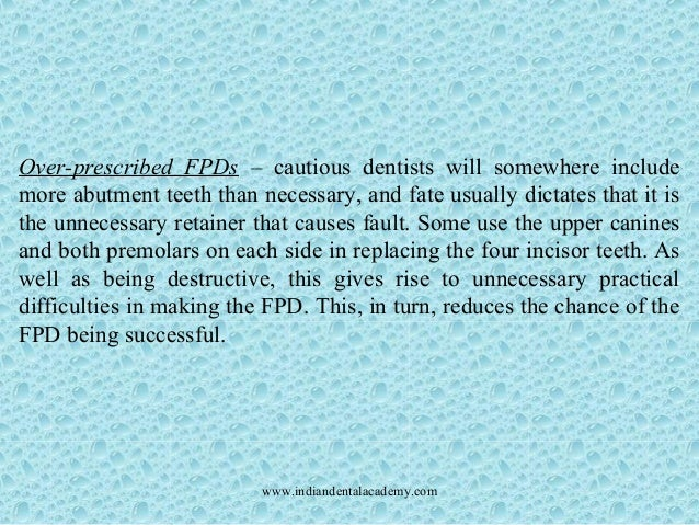 Failures In Fixed Partial Dentures Certified Fixed Orthodontic Cours