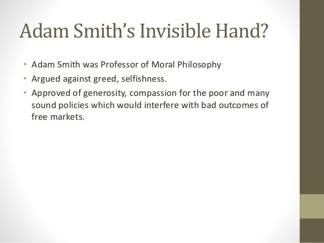 adam smith invisible hand summary