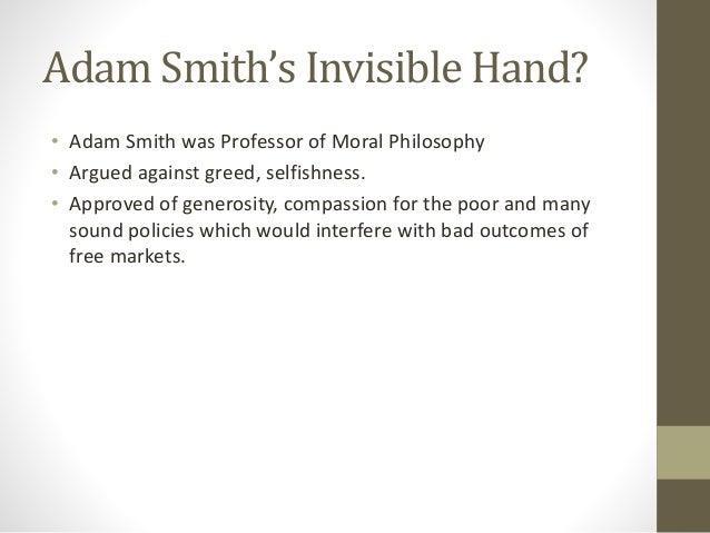 adam smith invisible hand summary