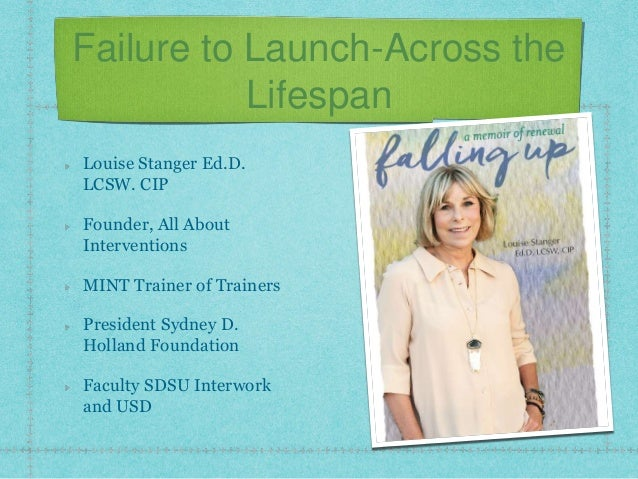 Failure to Launch-Across the Lifespan Louise Stanger Ed.D. LCSW. CIP Founder, All About Interventions MINT Trainer of Trai...
