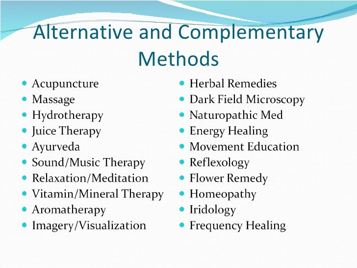 alternative medicine essay example 4 Responsibility for health has changed and this will be discussed by examples of  sociologicalshow more content they along with many other  essay about  complementary/ alternative medicine (cam) education 1981 words | 8 pages.