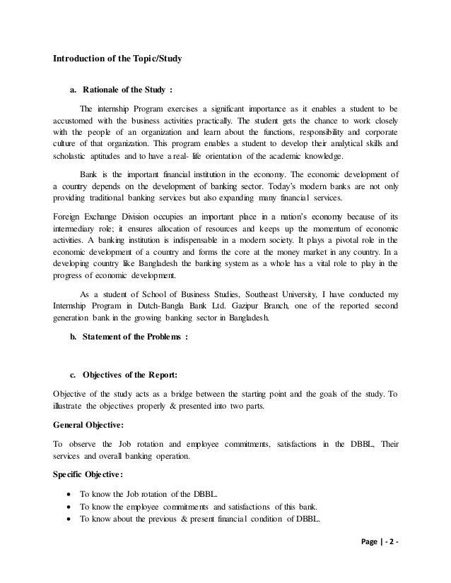 Internship report on dbbl