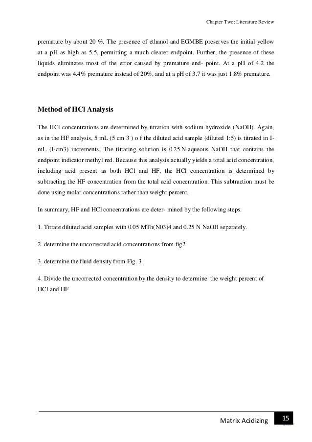 matrix method literature review
