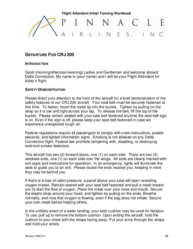 cabin crew initial training packet