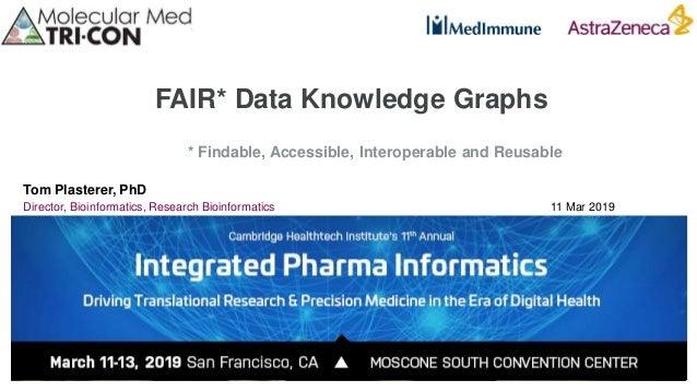 FAIR* Data Knowledge Graphs Tom Plasterer, PhD Director, Bioinformatics, Research Bioinformatics 11 Mar 2019 * Findable, A...