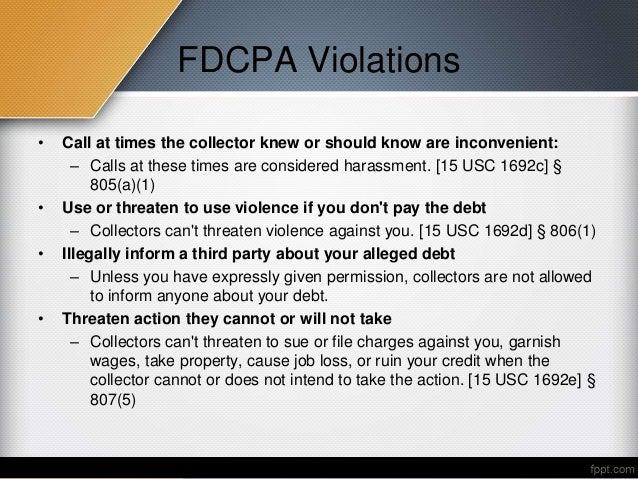 fdcpa violations