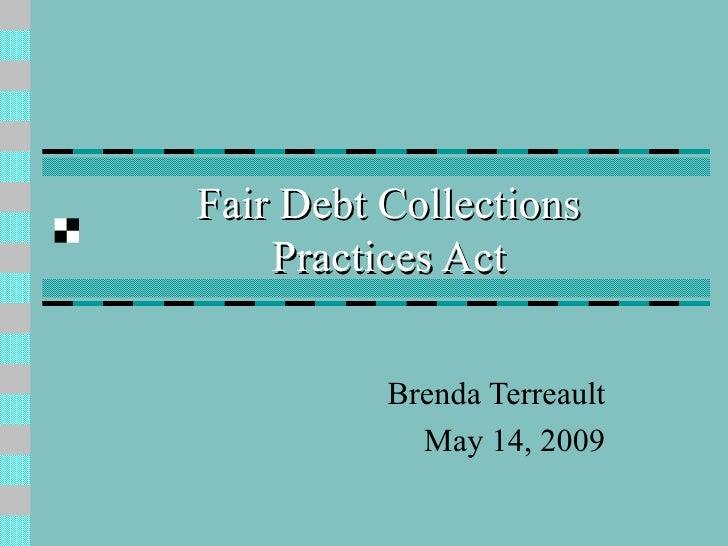 Fair Debt Collections Practice Act