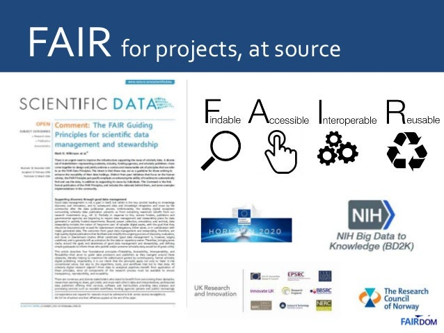 FAIR for projects, at source