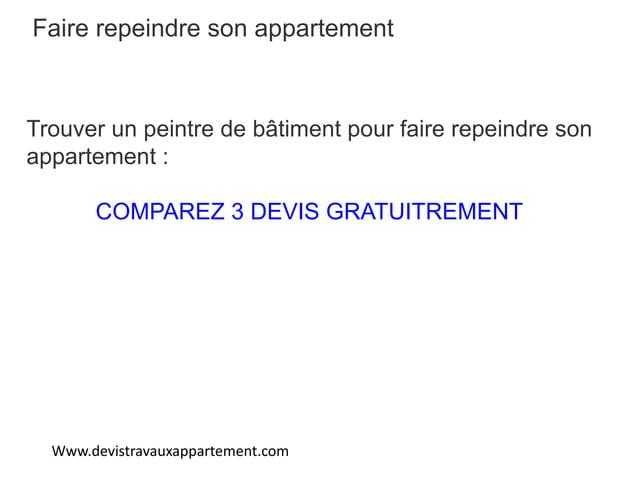 Www.devistravauxappartement.com Faire repeindre son appartement