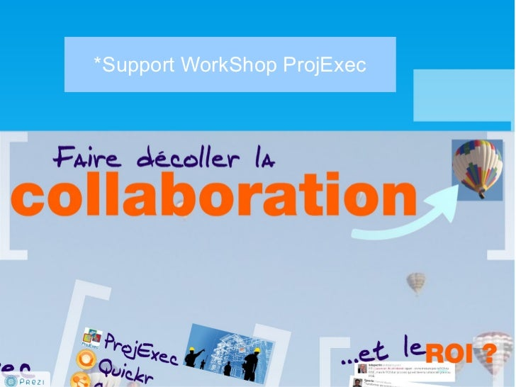 *Support WorkShop ProjExec