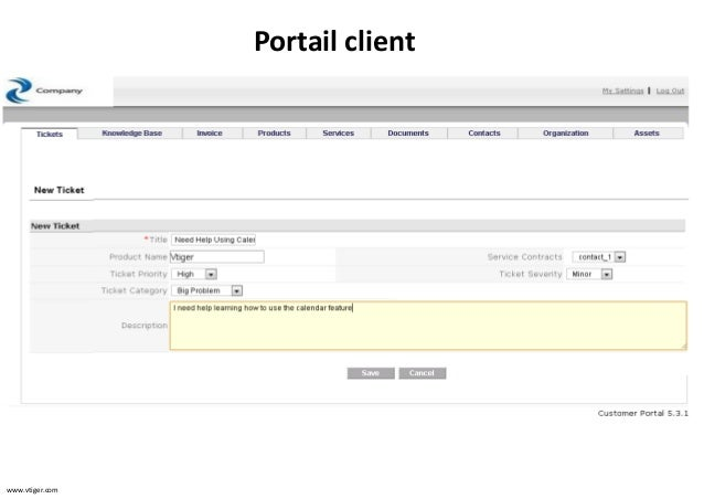 portail client vtiger