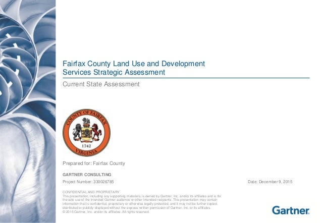 Fairfax County Land Use and Development Services Strategic Assessment Current State Assessment  Prepared for: Fairfax Coun...