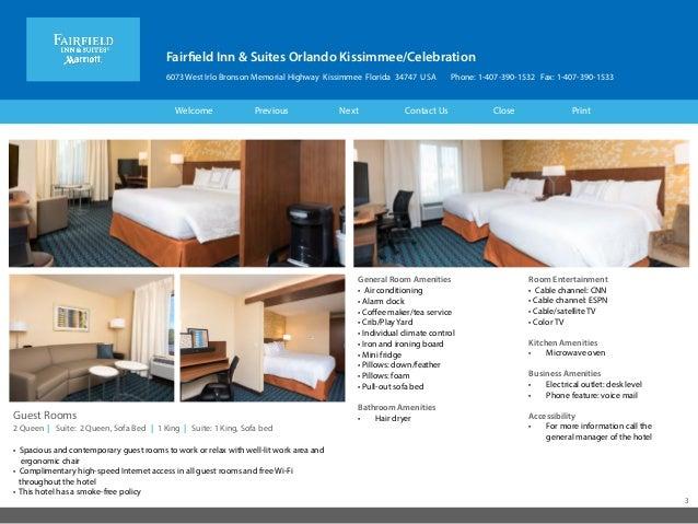 Fairfield Inn & Suites Kissimmee Celebration FL Hotel eBrochure