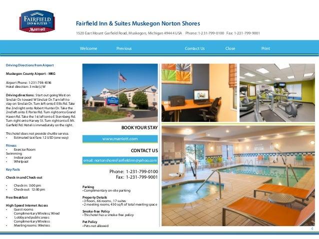 Fairfield Inn & Suites Norton Shores Muskegon MI Hotel eBrochure