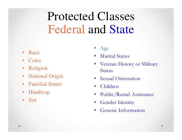 Marital status protected class sexual orientation
