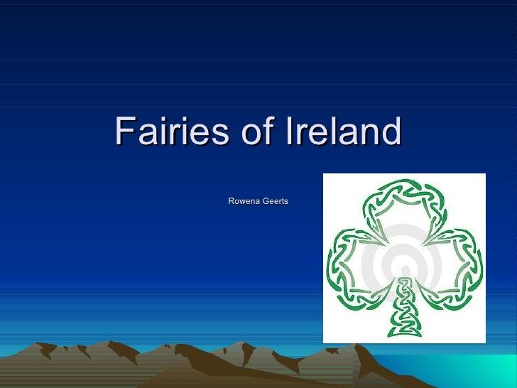 Fairies of Ireland Rowena Geerts