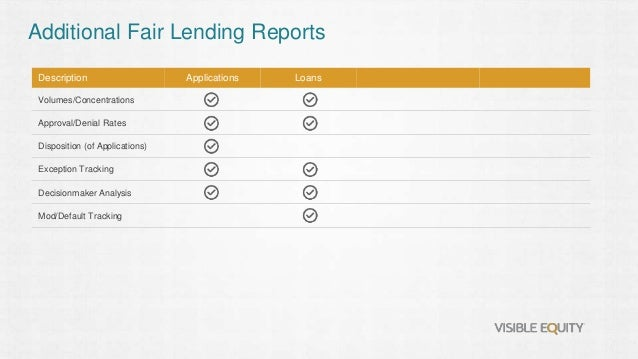 Fair Lending Testing and Analysis - Made Easy