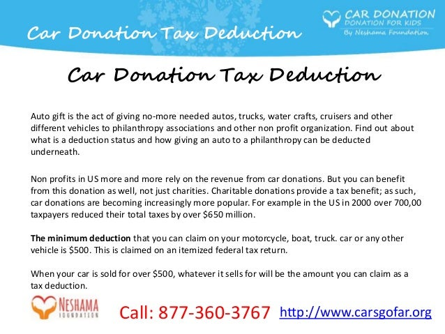 Image Result For Car Donation Tax Deduction Value