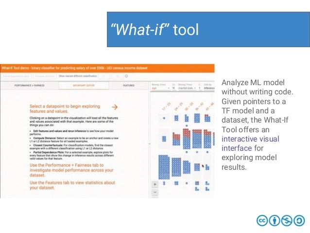 """""""What-if"""" tool Analyze ML model without writing code. Given pointers to a TF model and a dataset, the What-If Tool offers ..."""