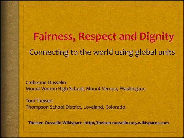 Catherine  Ousselin   Mount  Vernon  High  School,  Mount  Vernon,  Washington      Toni  Theisen  ...