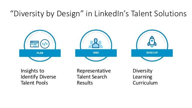 """""""Diversity by Design"""" in LinkedIn's Talent Solutions Insights to Identify Diverse Talent Pools Representative Talent Searc..."""