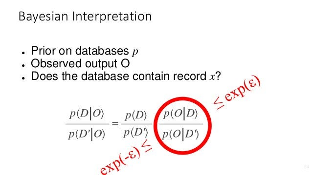 ● Robustness to auxiliary data ● Post-processing: If M(D) is differentially private, so is f(M(D)). ● Composability: Run t...