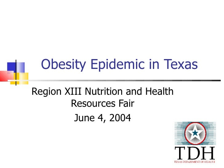 Obesity Epidemic in Texas Region XIII Nutrition and Health Resources Fair June 4, 2004