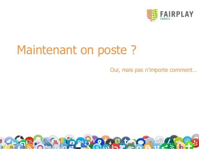 ex : Combien de caractères poster pour maximiser ses chances d'interactions?       Romain Stambouli        Poster sur Face...