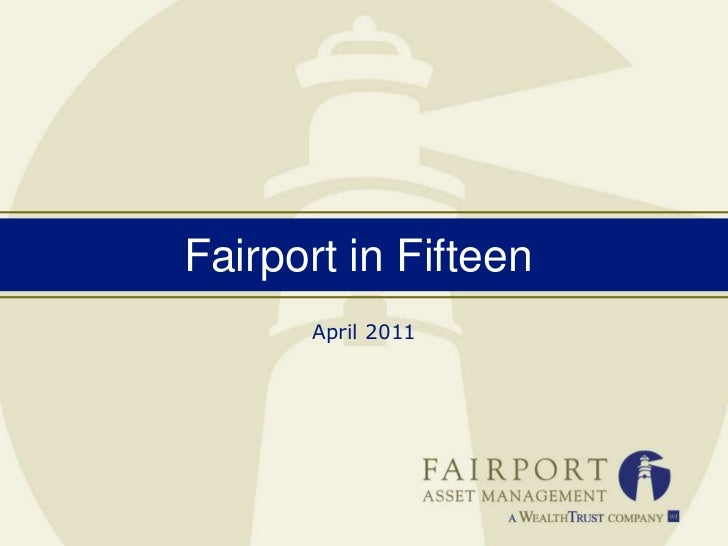 Fairport in Fifteen<br />April 2011<br />