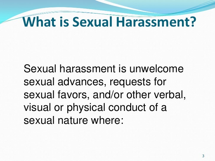 Sexual harassment at work definition essay