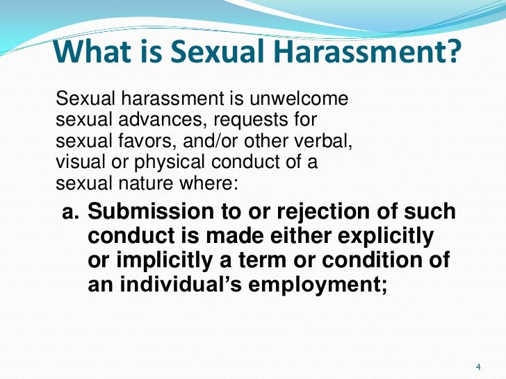 Sexual harassment in the work environment ppt