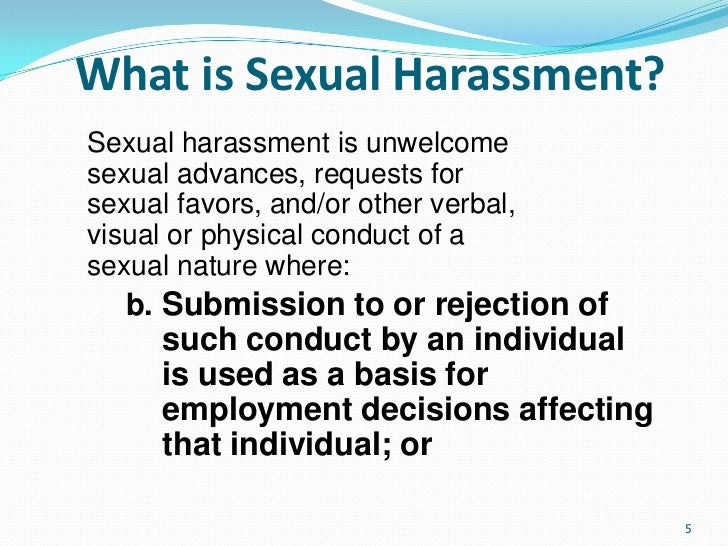 Sexual harassment training ppt